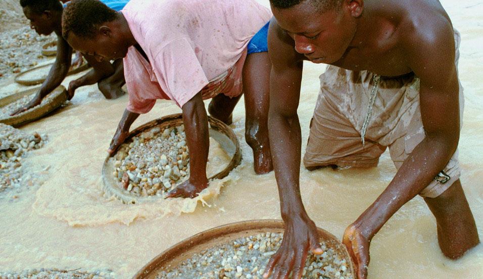 Добыча алмазов в ЮАР, Африка